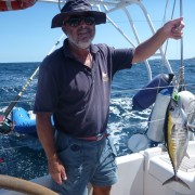 Omero Moretti pesca ai Caraibi tonno
