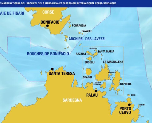 cartina bocche di Bonifacio