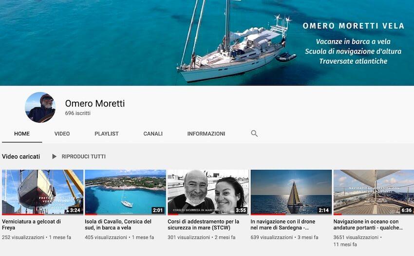 canale youtube vita di mare omero moretti