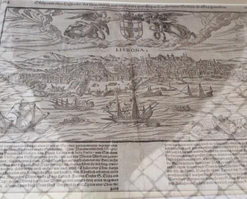 vecchia carta Lisbona