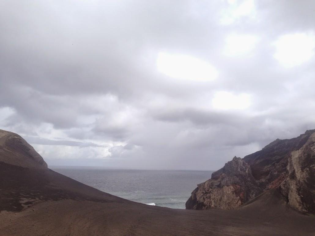 vista dal faro di faial isole azzorre