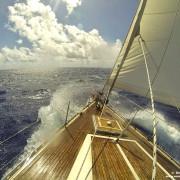 barca a vela Freya in navigazione buon vento dell'ovest