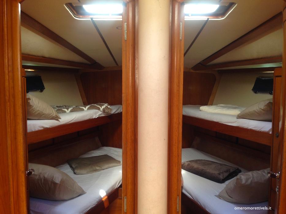 interni barca a vela cabine di prua