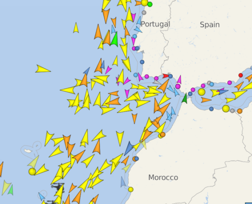 traffico di gibilterra vessel finder
