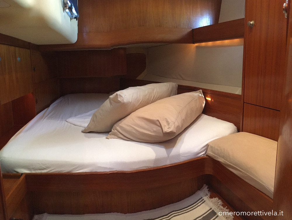 Freya barca a vela interni - Cabina di poppa 1