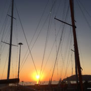 tramonto in cantiere