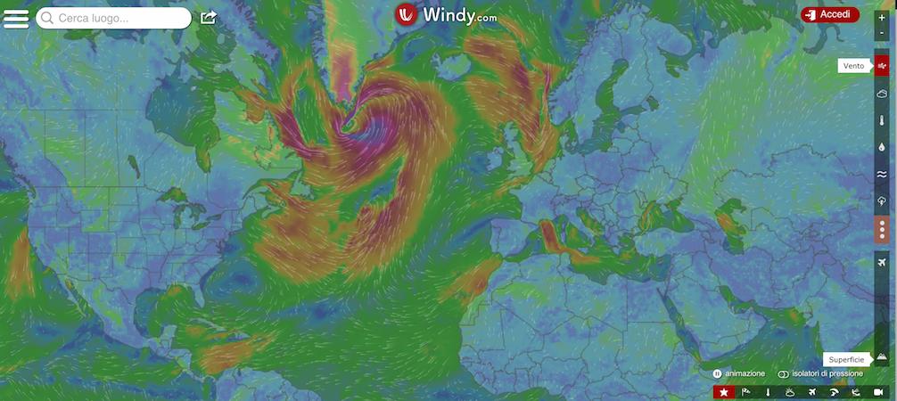 siti meteo per la vela windy