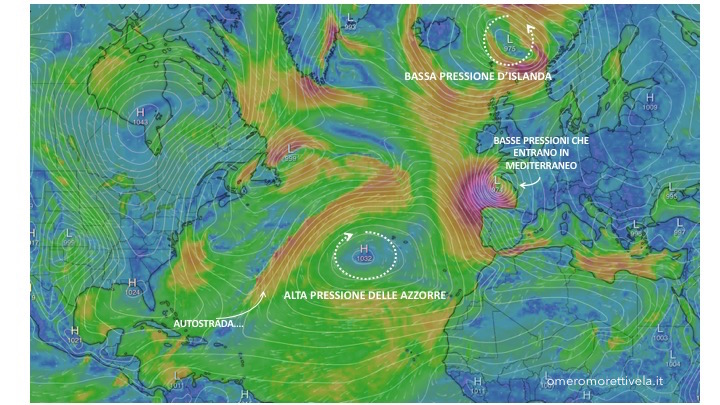 alta pressione delle azzorre posizione invernale con spiegazioni 2