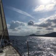 arrivo sull'isola di Ustica scuola vela d'altura