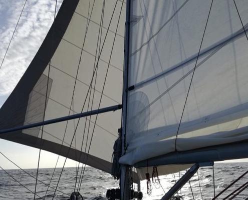 scuola vela in Mediterraneo vele a farfalla