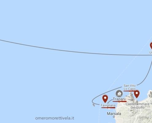 scuola vela d'altura itinerario sardegna sicilia in barca a vela