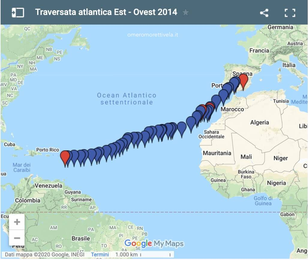 rotta traversata atlantica 2014
