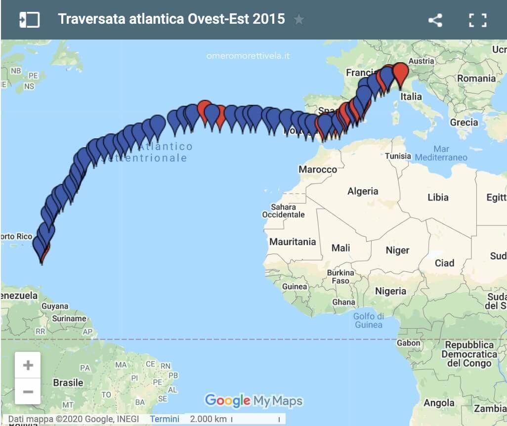 rotta traversata atlantica 2015
