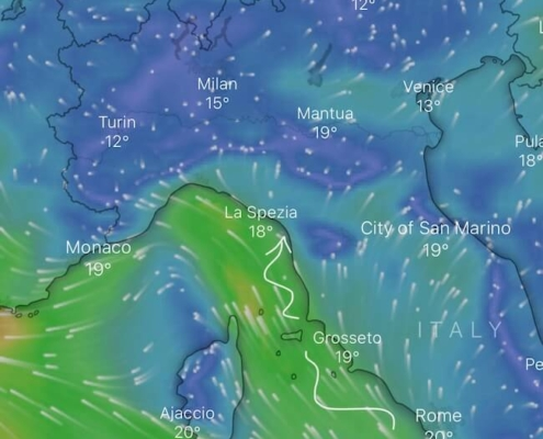 vento in mediterraneo