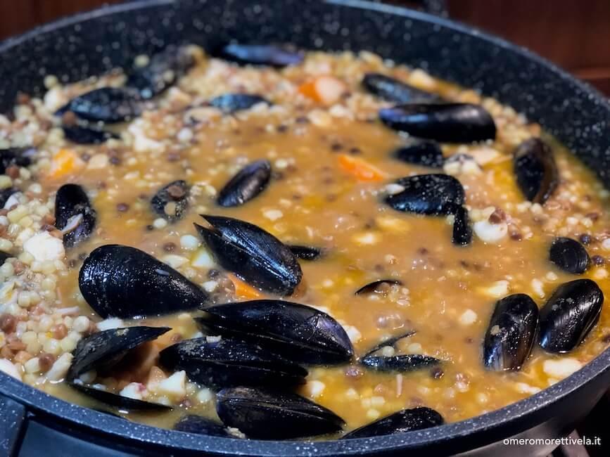 ricette sarde fregula frutti di mare